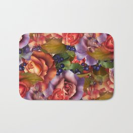 Septembe Roses Bath Mat