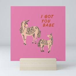 I Got You Babe Mini Art Print