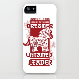 Horse Chinese Zodiac Sign Horoscope Animal iPhone Case