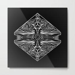 Primal Owl Mandala Metal Print