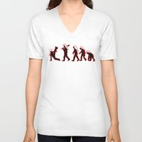 evolution V-neck T-shirts featuring Evolution  by TCWillmott