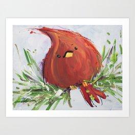 Fat Cardinal Art Print