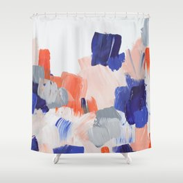Blue & Orange Shower Curtain