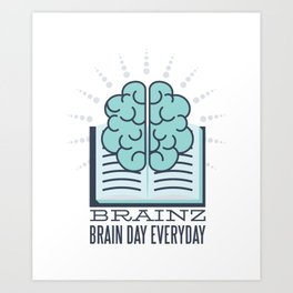 Book brain superior Brain Day Art Print