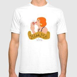 Kiss Me Wine T-shirt