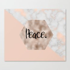 Rose gold layers - peace Canvas Print
