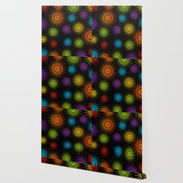 Colorful Christmas snowflakes pattern- holiday season gifts Wallpaper