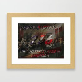 236 Years Framed Art Print