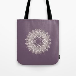 Mandala in Mulberry and White Tote Bag