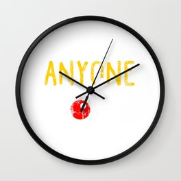 Anyone Can Be A Clown (2) Wall Clock