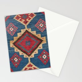 Vintage Woven Kilim II // 19th Century Colorful Royal Blue Yellow Authentic Classic Ornate Accent Pa Stationery Cards