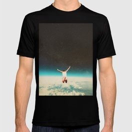 Falling with a hidden smile T-shirt