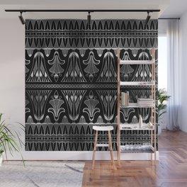 Silver and Black Glitzy Glam Ornate Art Deco Wall Mural
