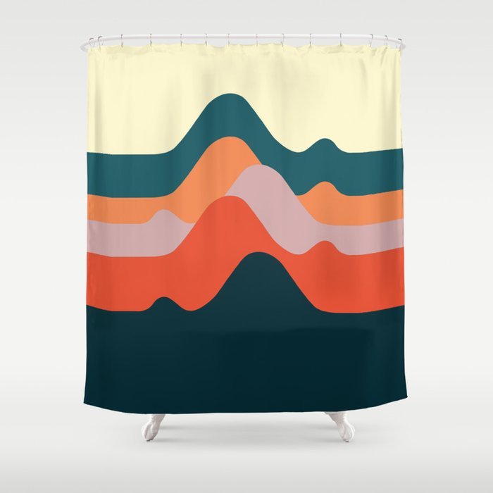 Minimalist Mountain Shower Curtain