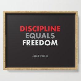 """Discipline Equals Freedom"" Jocko Willink Serving Tray"