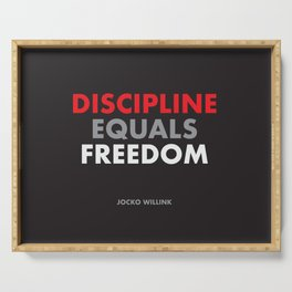 """Discipline Equals Freedom"" Jocko Willink Serving Tray"