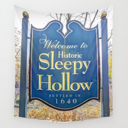 Sleepy Hollow Town Sign Wall Tapestry