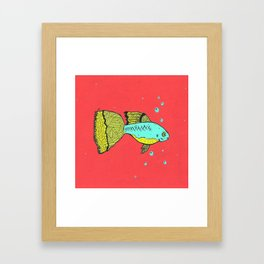 it's a goopie fish Framed Art Print