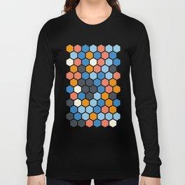 Texture hexagons - SummerColors Long Sleeve T-shirt