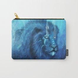 Blue Spirit Lion Carry-All Pouch