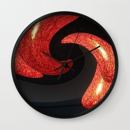 Reds The Chili Peppers Abstract Wall Clock