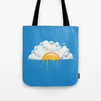 breakfast Tote Bags featuring Breakfast by carbine