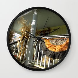 Country Harvest Porch Wall Clock