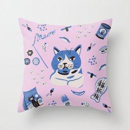 A cat's world Throw Pillow