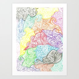 Puzzles and Swirls Art Print