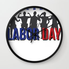 Labor Day Celebration Wall Clock