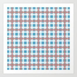 Plaid, delicate blue Art Print