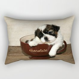 Cup of Puppy Rectangular Pillow