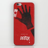 movie poster iPhone & iPod Skins featuring Dexter - Alternative Movie Poster by Stefanoreves