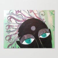 hindu Canvas Prints featuring Hindu Woman by Kathead Tarot/David Rivera
