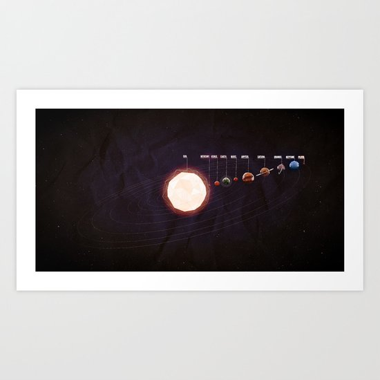 Low Poly Space Art Print
