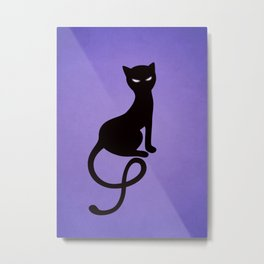 Gracious Evil Black Cat Metal Print