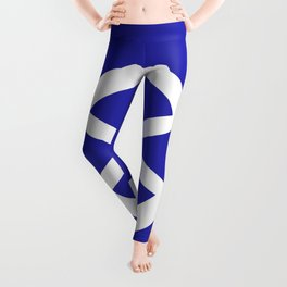 Ship Wheel (White & Navy Blue) Leggings