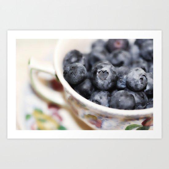 Blueberry Love... Art Print