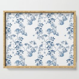 Chinoiserie in White Serving Tray