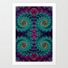 Aqua Swirl 3 Art Print
