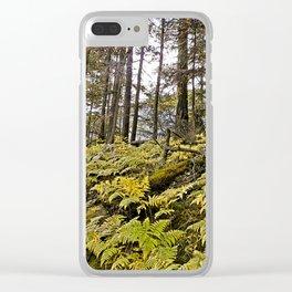 AUTUMN FOREST BRACKEN FERNS Clear iPhone Case