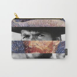 Van Gogh's Self Portrait & Clint Eastwood Carry-All Pouch