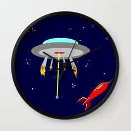Earth, Moon and Star Crafts with Stars and Planets Wall Clock