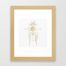 Golden Goddess Mandala Framed Art Print