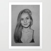 caitlin hackett Art Prints featuring Caitlin Stasey drawing. by ANNIE.PC