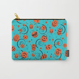 Halloween Magic- Turquoise Carry-All Pouch
