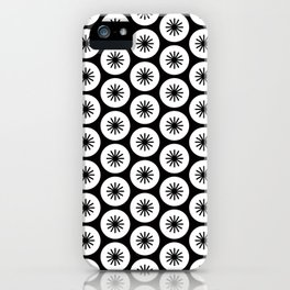 Geometric Pattern 246 (stars in circles 2) iPhone Case
