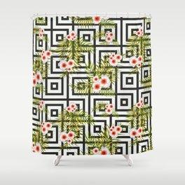 Geometric Jungle #society6 #decor #buyart Shower Curtain