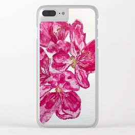 Wild Pink Floral Watercolour Clear iPhone Case