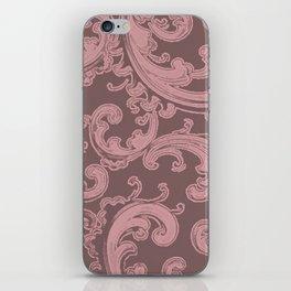 Retro Chic Swirl Bridal Rose iPhone Skin
